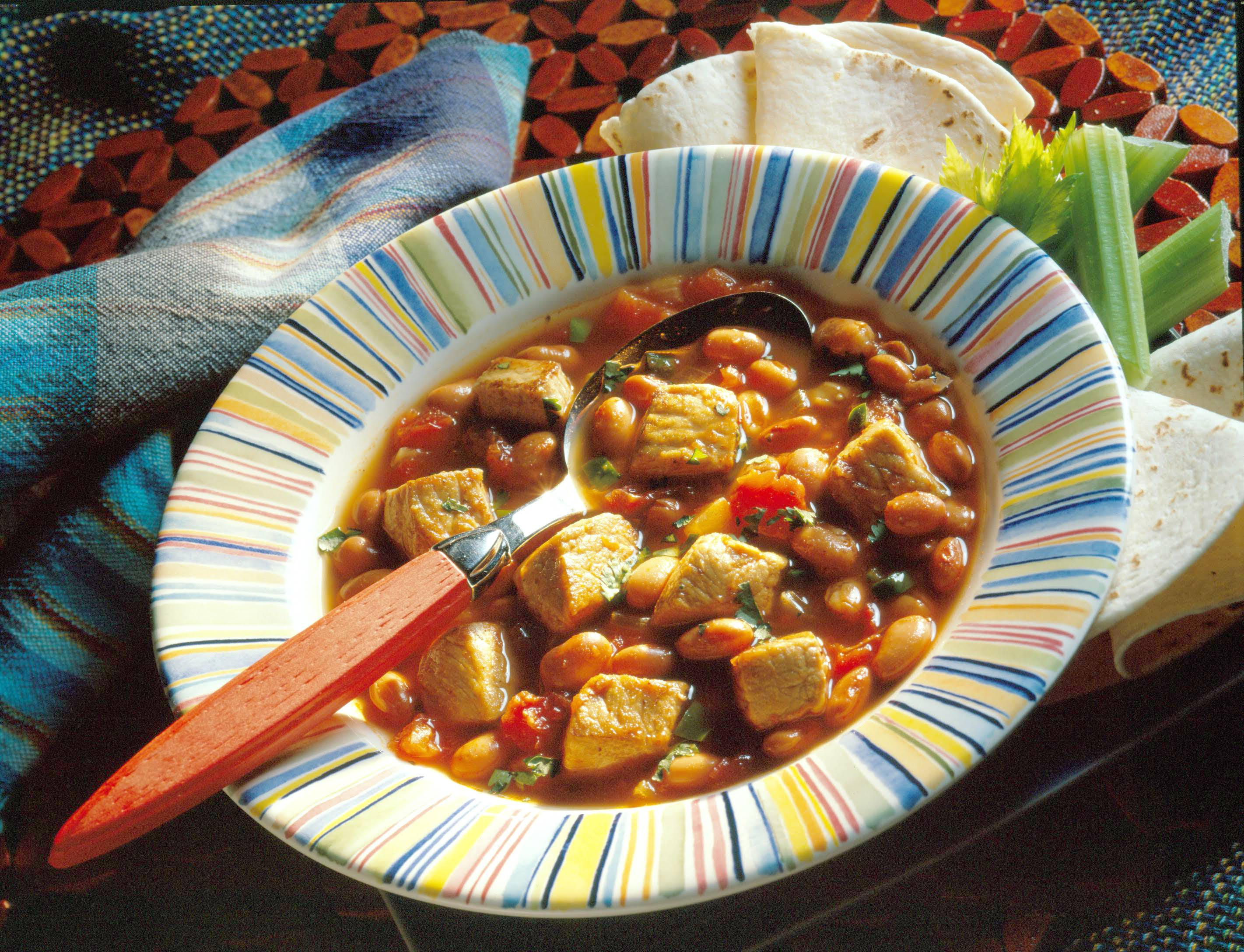 Southwestern Pork And Bean Soup