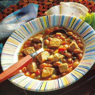 Southwestern Pork And Bean Soup.