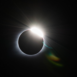 Solar Eclipse diamond ring by Amy Humphrey - Landscapes Starscapes