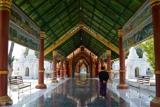 palace - A beautiful covered walkway in a temple complex.