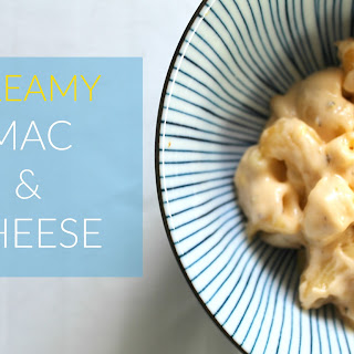 CREAMY MAC AND CHEESE.