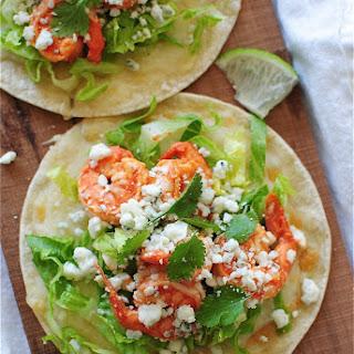 Buffalo Shrimp Tostadas Recipe