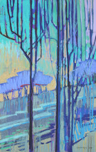Photo: Presidio Trees, pastel by Nancy Roberts, copyright 2014. Private collection.