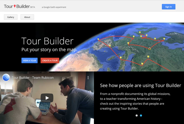 Tour Builder Homepage