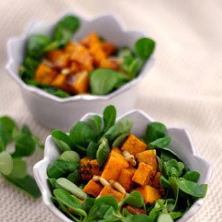 Za'atar Roasted Butternut Squash Salad with Pomegranate Molasses
