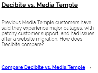 Decibite vs MediaTemple