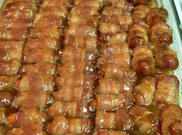 Bacon Wrapped Smokies With Brown Sugar And Butter Recipe