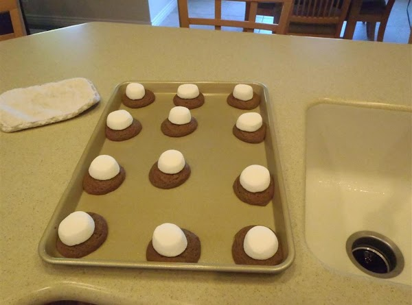 Bake in pre-heated oven at 375 degrees for 7-9 minutes. This is when they...
