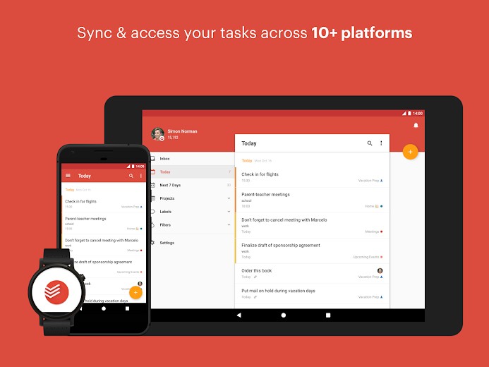 Screenshot 9 for Todoist's Android app'