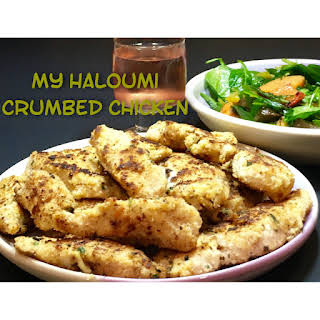 My Haloumi Crumbed Chicken.