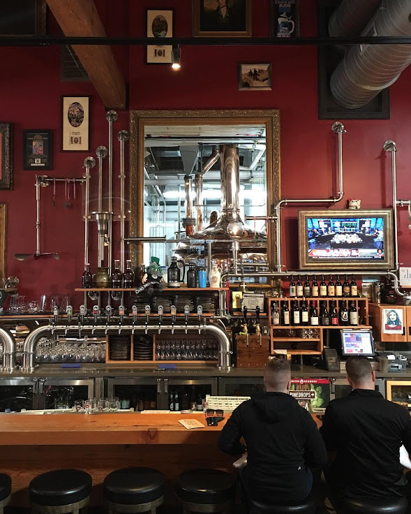Find a seat at the bar and you'll have a view of the magic in the back room.