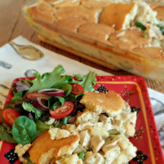 Southern Chicken Pot Pie with a Cotton Country Shortbread Topping.
