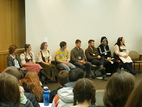 Photo: Our panel of UAA German students and German Day volunteers