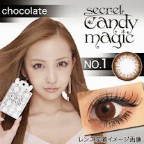 【限定クーポン公開★】シークレットキャンディーマジックNO.1 チョコレート度あり&度なしカラコンブラウン茶コン 商品画像