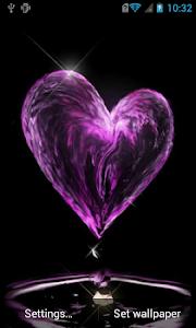 Water heart live wallpaper screenshot 0