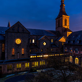Belgian Abbey by John Crongeyer - Buildings & Architecture Places of Worship ( church, low light, long exposure, belgium, architecture, morning, worship, religious, abbey )
