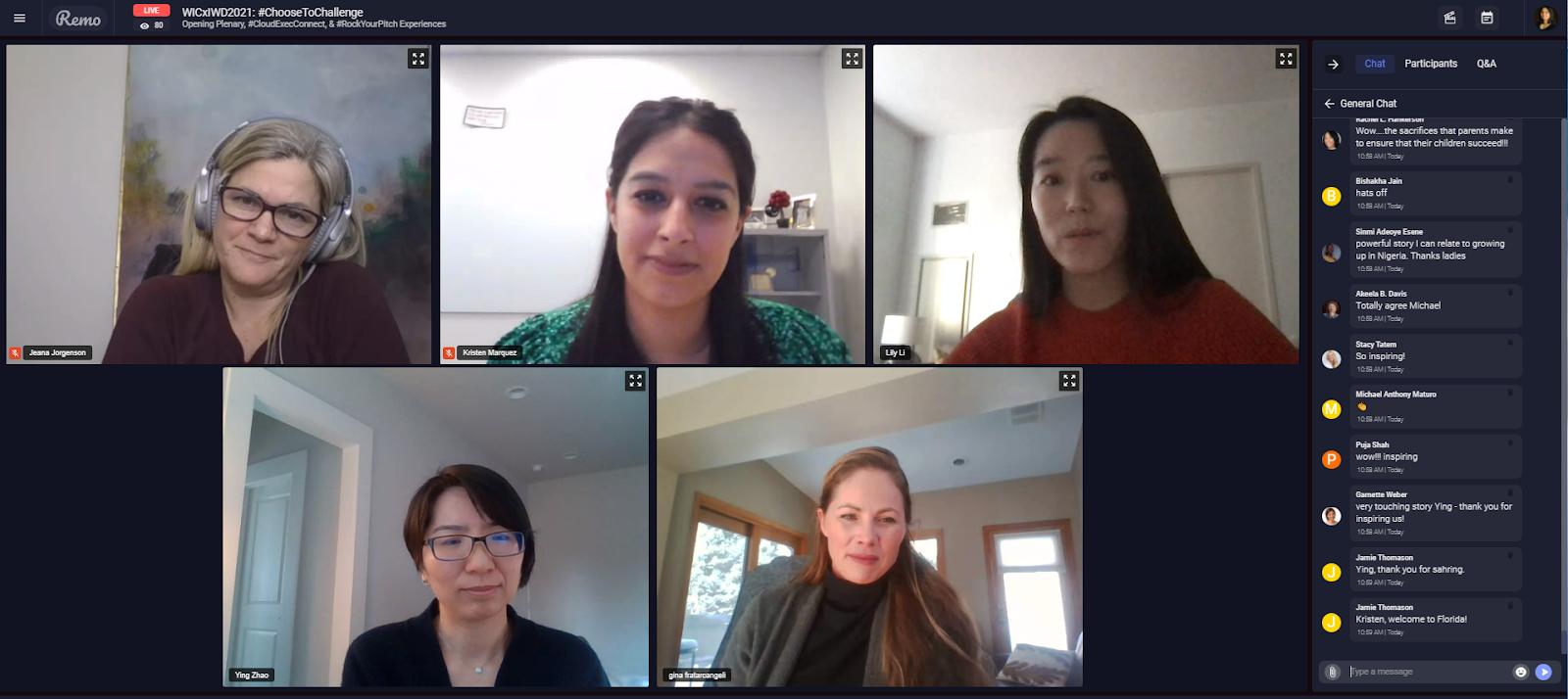 #ChoosetoChallenge Power Panel at Women In Cloud IWD2021 Event