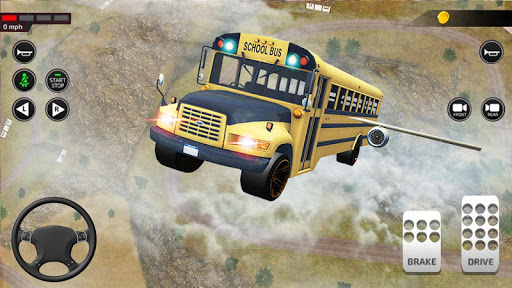 Offroad School Bus Driving: Flying Bus Games 2020 apkpoly screenshots 7