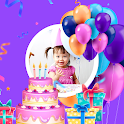 Happy Birthday Photo Frame & Editor icon