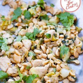 Low Carb Bok Choy Cashew Chicken
