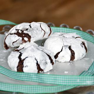 Chocolate Snowflake Cookies.