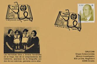 Photo: Matasellos del 110 aniversario de las doctoras Fernández de la Vega en Vegadeo 2005