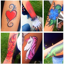 Photo: Some of Bibi the Clown's Body painting. Call to book Bibi today: 888-750-7024