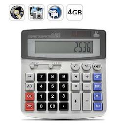 Calculator de birou cu camera spion audio-video. Memorie 4 GB.