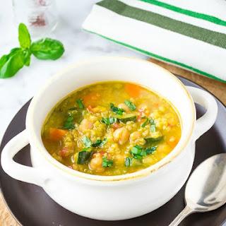 Saffron Vegetable Soup with Quinoa.