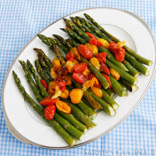 Roasted Asparagus with Tomatoes.