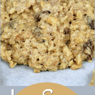 Low Sugar Whole Wheat Oatmeal Raisin Cookies.
