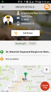 Demo Cab App Guest Software - náhled