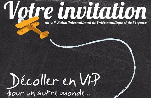 Invitation au salon de l'Aéronautique et de l'Espace 2015 - Création SAKANA communication