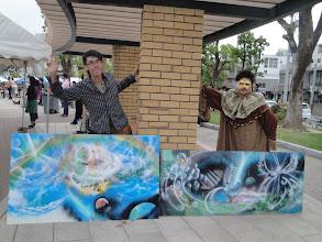Photo: ☆ファイター☆&Denisのコラボ作品。商店街に寄贈していただきました!