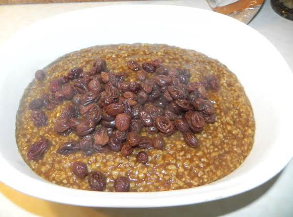 Oatmeal With Bugs (raisins) In It! Recipe