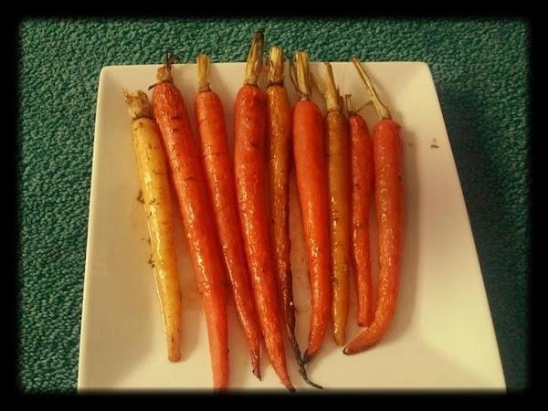 Maple Miso Glazed Roasted Carrots Recipe