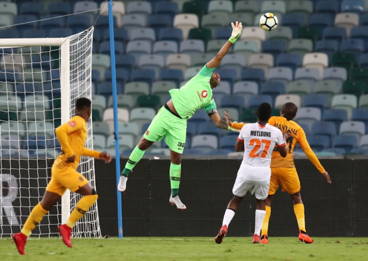 Itumeleng Khune of Kaizer Chiefs during the Absa Premiership match between Kaizer Chiefs and Polokwane City at Moses Mabhida Stadium on October 06, 2018 in Durban, South Africa.