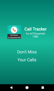 Call Tracker for Act! Essentials CRM- screenshot thumbnail