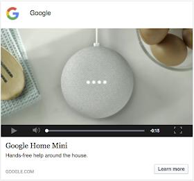Example native video ad for Google Home Mini