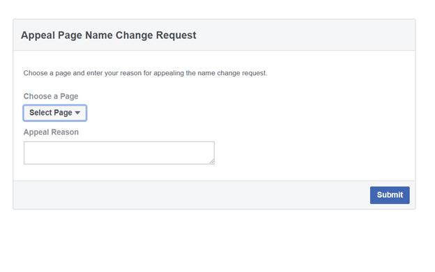 Vấn đề thường gặp khi đổi tên trang Facebook