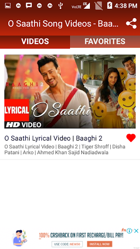 baaghi 2 movie song o sathi ringtone download