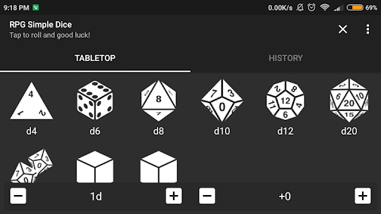 RPG Simple Dice Apk for Android. [DND 5E compaitable] 5