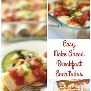Sweet and Spicy Cheesy Egg & Black Bean Enchiladas.