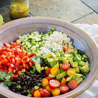 Black Bean Quinoa Salad with Lime Vinaigrette.