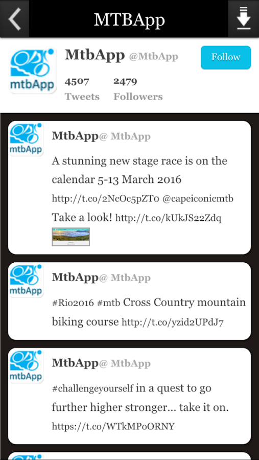 MTBApp- screenshot