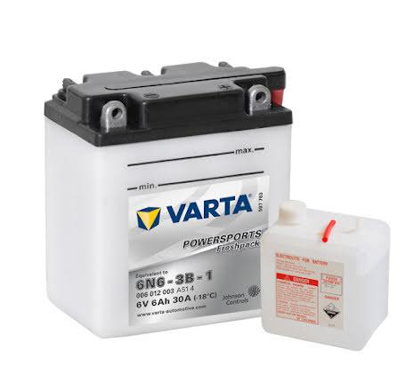 MC-batteri 6Ah 6N6-3B-1 Varta Powersports lxbxh=100x57x110mm