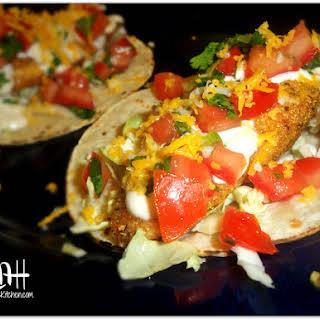 Fish Tacos with Creamy Fish Taco Sauce.