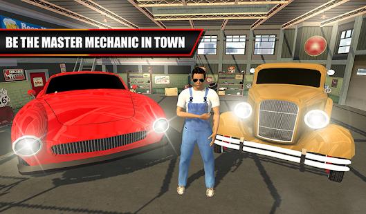 Classic Car Mechanic Garage