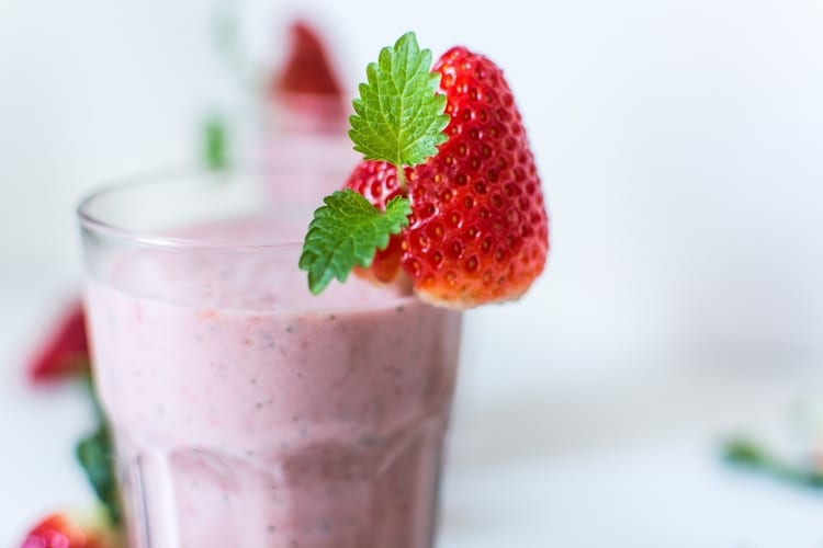 smoothie in glass