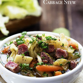 Slow Cooker Corned Beef and Cabbage Stew.